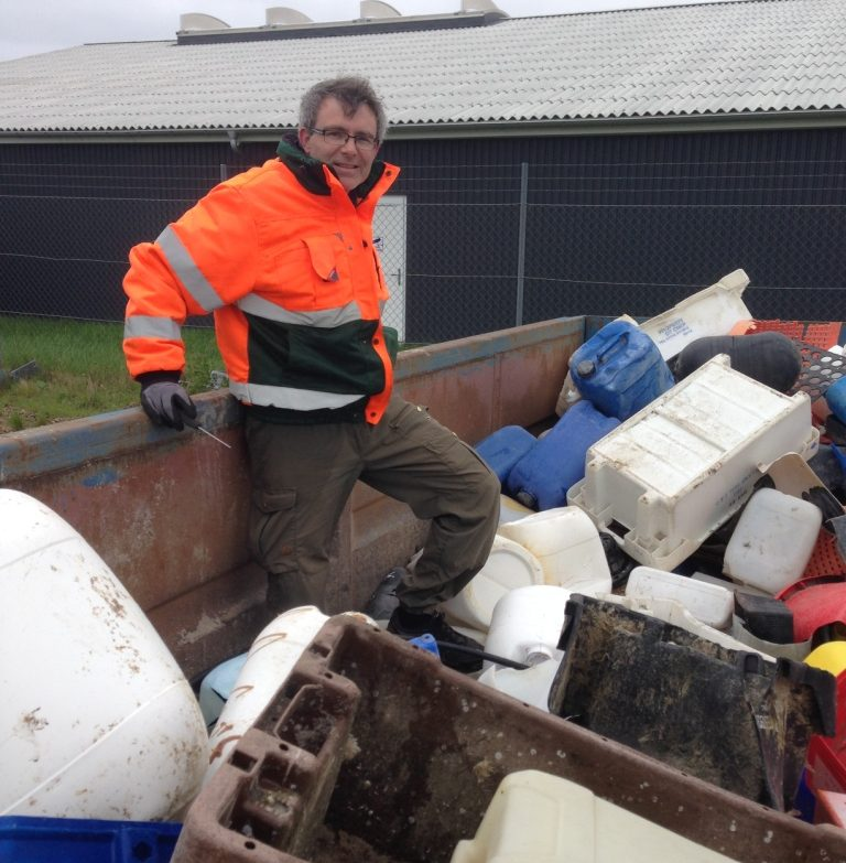 Ryan Metcalfe, KIMO Denmark – sorting plastic materials at the municipality of Thisted