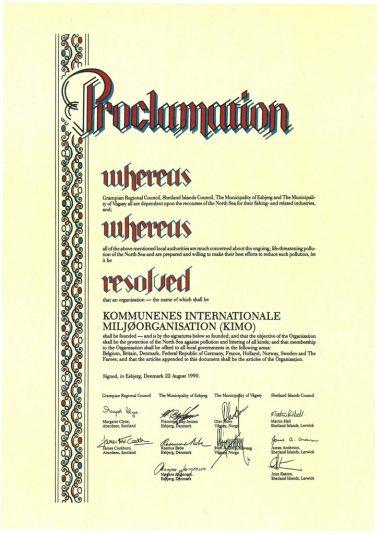 KIMO's founding document