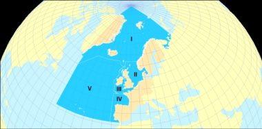 Ospar Region Map