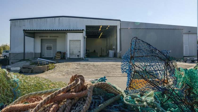 Ropes and nets await sorting at the Marine Recycling Centre in Sotenäs, Sweden.