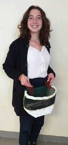 Maëlisse Audugé wearing her 'Sacabout'